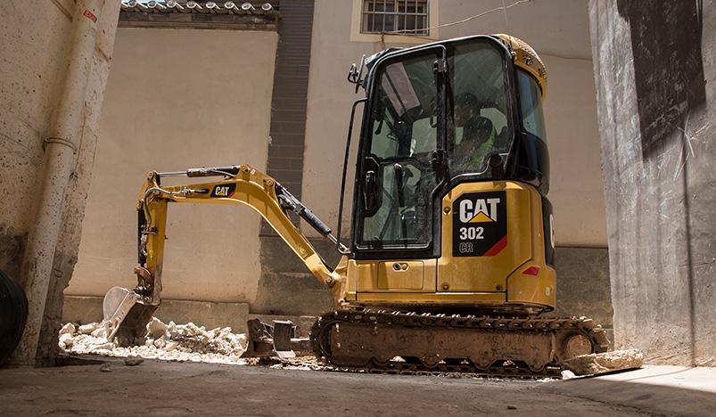 新一代避暑神器,2吨级带空调驾驶室挖掘机,卡特302 CR前来报到!
